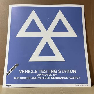 Sealey Warning Safety Sign - MOT Testing Station - Rigid Plastic SS51P1